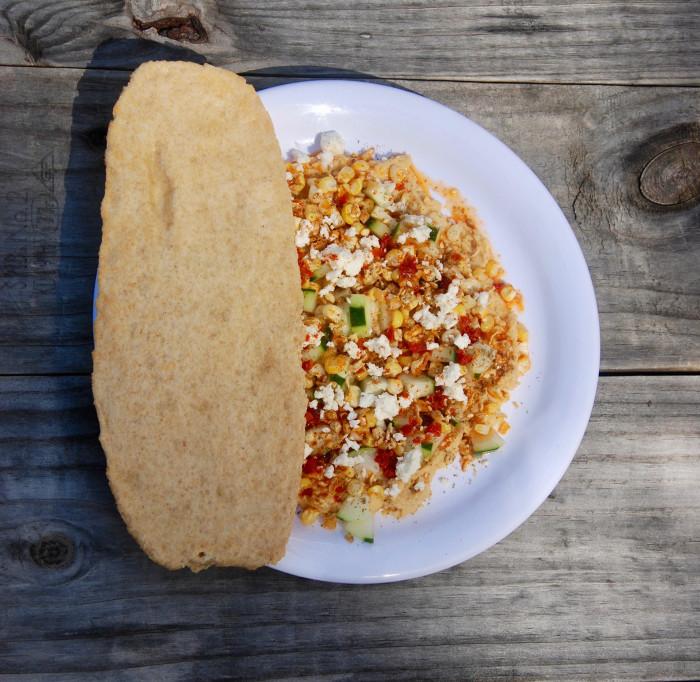 Dan Giusti's Brigaid hummus lunch