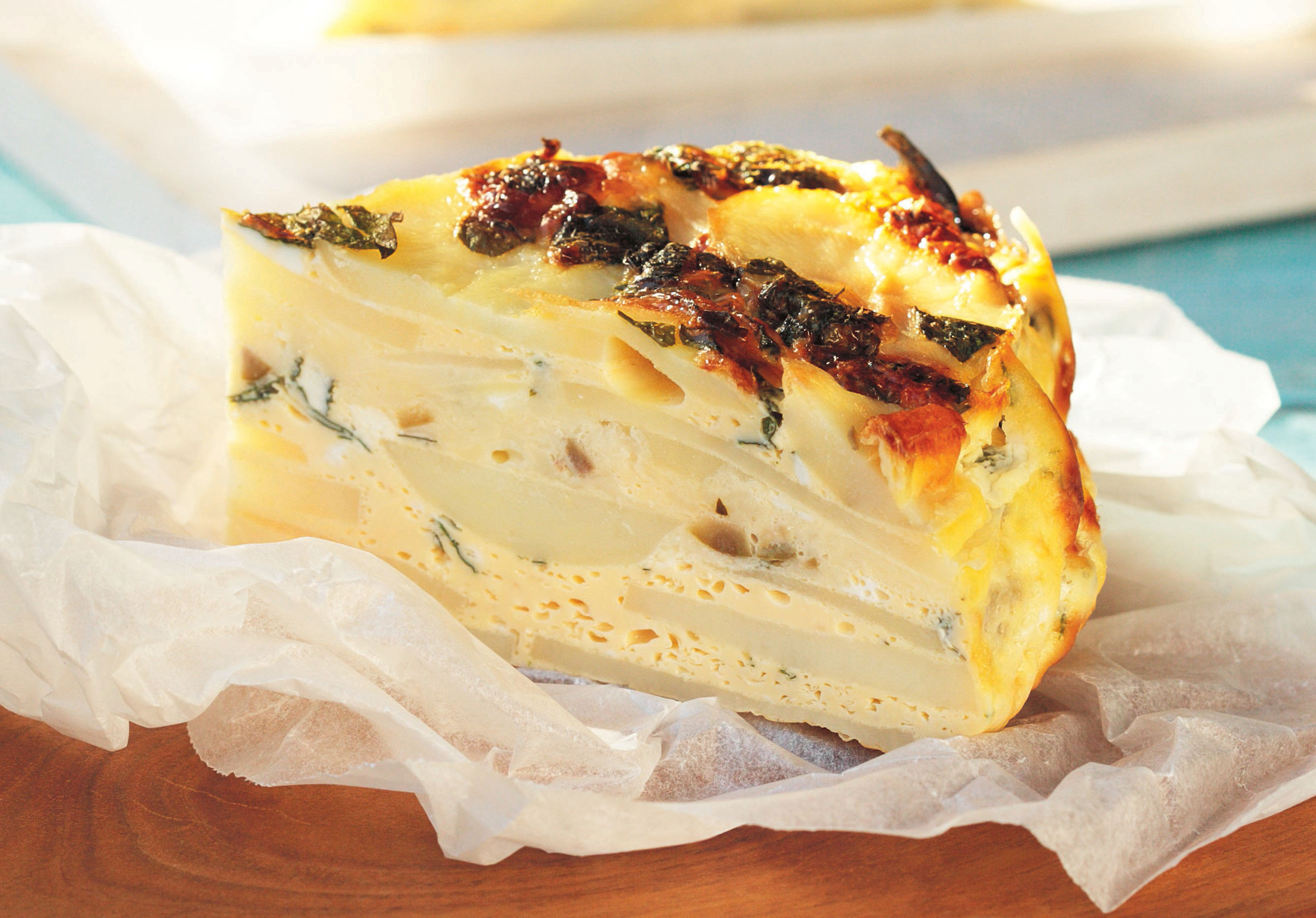pictures Spanish Tortilla with Manchego and Green Olives