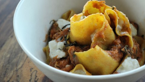 Kevin Fink's pappardelle and confit pork ragu from Emmer & Rye