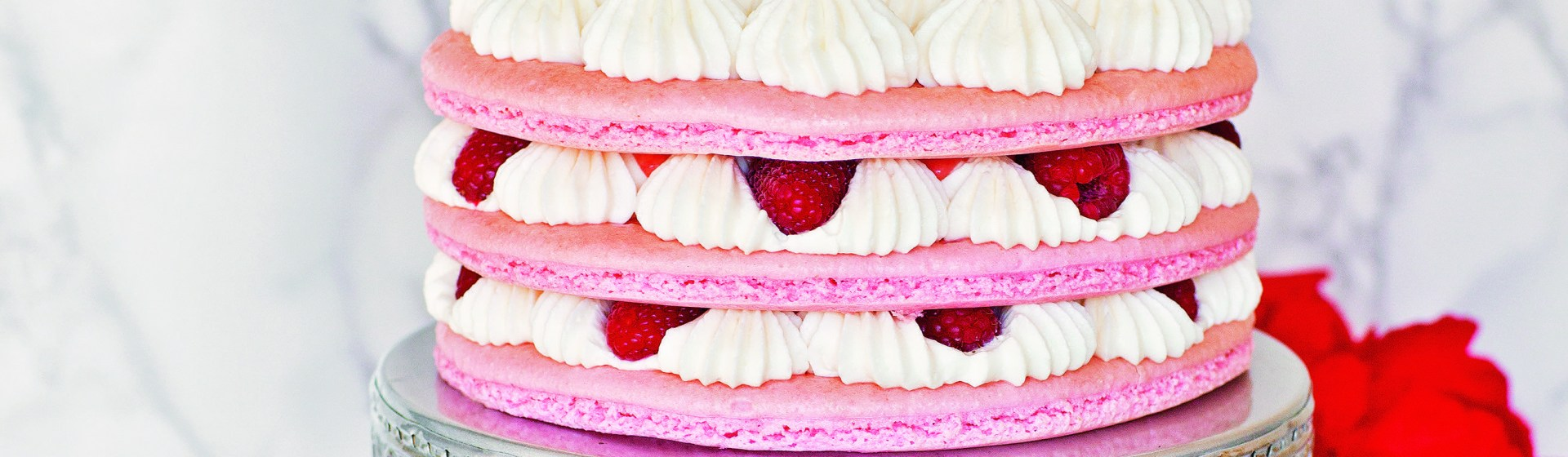 How To Make A Raspberry Lemon Macaron Cake