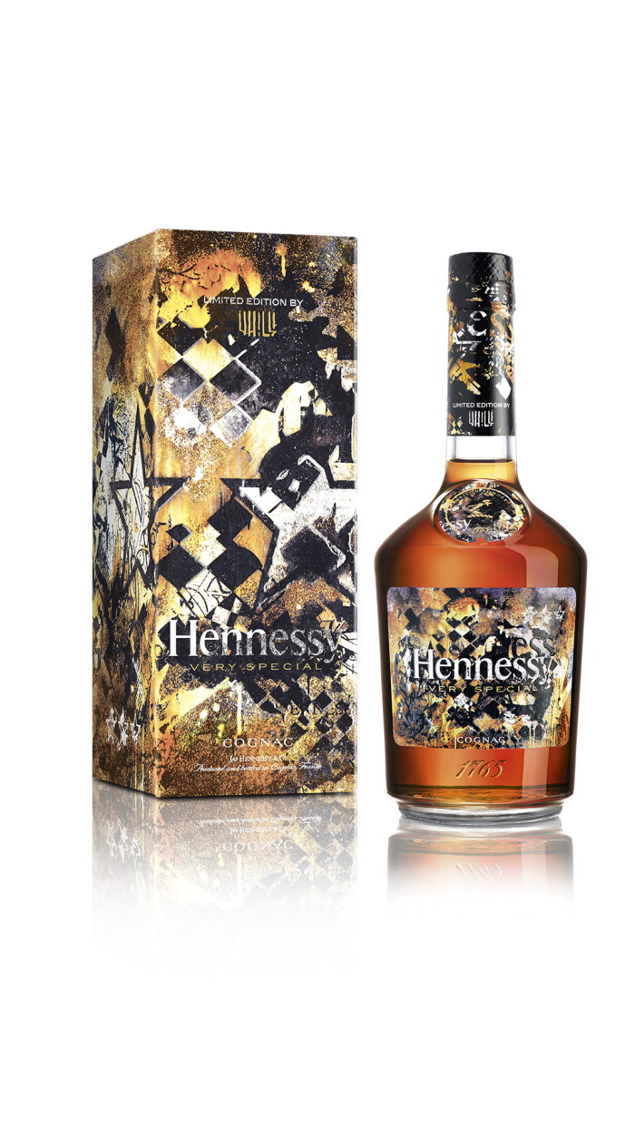 Vhils Hennessy limited edition bottle