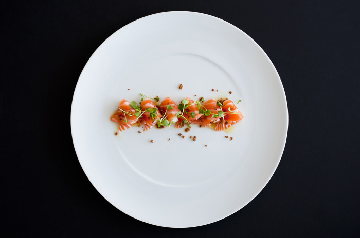 salmon nashi from Juvia in Miami.