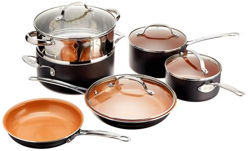 Medium Of Copper Pot Set