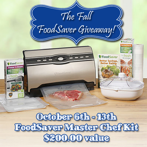FoodSaver Group Giveaway | via www.foodstoragemoms.com
