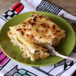 White Lasagna with Roasted Brussels Sprouts and Cauliflower