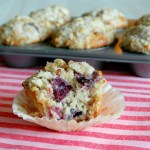 Sweet Cherry Muffins with Pecan Streusel Topping