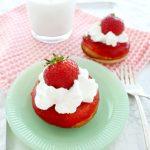Strawberry Shortcake Baked Donuts
