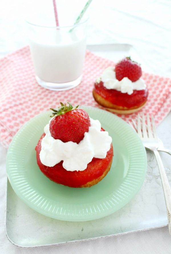 Strawberry Shortcake Donuts by Foodtastic Mom