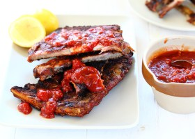 BACKGROUND Barbecued Ribs