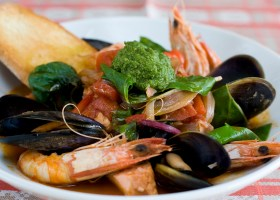 BACKGROUND SEAFOOD STEW