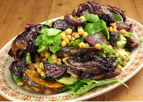 Cheat's Chickpea, Pumpkin and Roasted Onion Salad Thumbnail