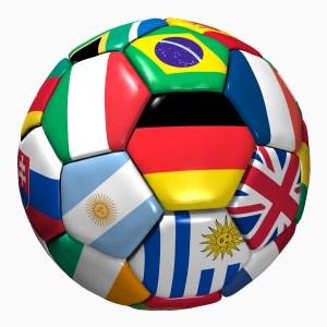 Fußball Weltmeisterschaft - internationale Fahnen