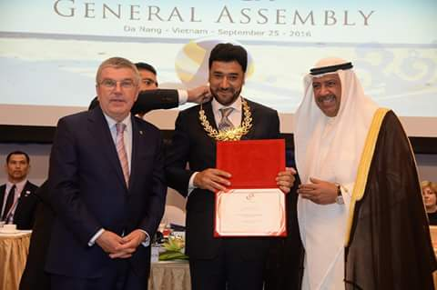 جایزۀ شایستهترین رییس المپیک آسیا به محمد ظاهر اغبر، رییس کمیتۀ ملی المپیک افغانستان داده شد.