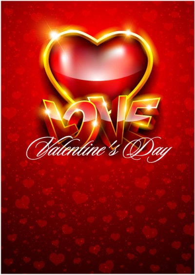 The gorgeous Valentine background 05 - vector material Download Free Vector,PSD,FLASH,JPG--www ...
