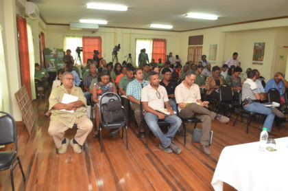Stakeholders at the awareness workshop on Lesser Used Species of wood facilitated by the Guyana Forestry Commission
