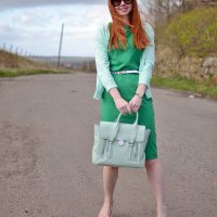 OUTFIT | Boden Audrey dress. Also: BANGS.