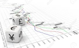 15473259-Two-small-currency-dice-on-Forex-chart-Stock-Photo-forex-trading