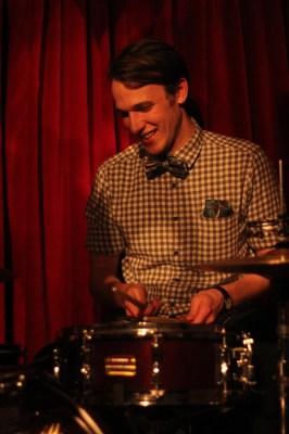 Chris on drums