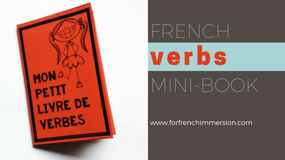 French Verbs Mini-book: a one-cut foldable mini-book for your students to have the most important French verbs at hand. Post includes free printable :)