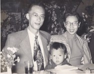 My father, Lu Sung Sheng, my mother, Chou Chung Sing, and I
