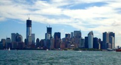looking back toward southern Manhattan/Battery Park