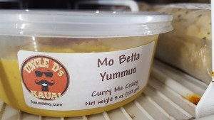 Moh Betta Yummus available at Hoku Natural Foods and at KCC Market Saturdays.