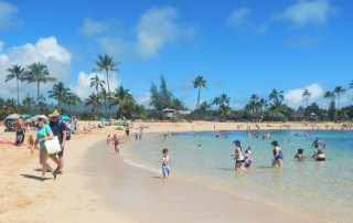 Waters sampled off Po'ipū beach, Kauai's popular tourist destination and premier snorkel spot, were found to have levels of oxybenzone of 281-419 parts per trillion. Photo by Ruby Pap
