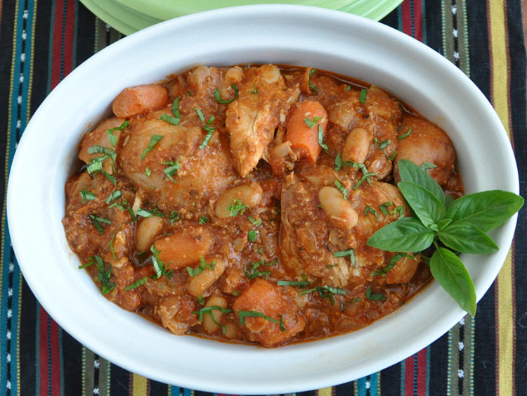 Slow Cooked Chicken with Cannellini Beans, Fennel and Tomato plus a ...