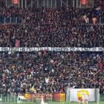 Striscione tifosi Roma