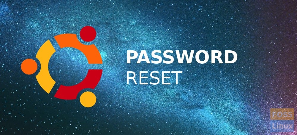 Ubuntu Password Reset