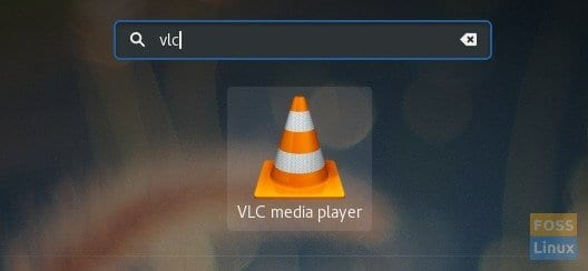 Fedora Activities VLC Search