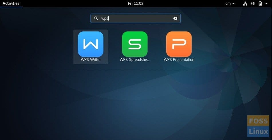 WPS Office in Fedora 25