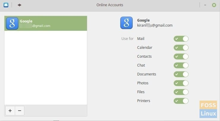 Google Account Added