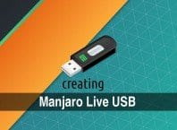 Create Manjaro Live USB flash drive