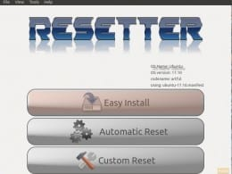 Resetter User Interface