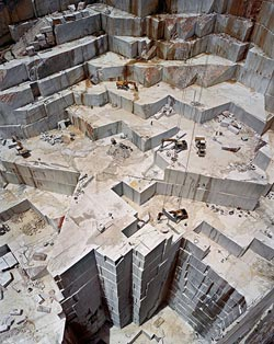 Carrara Marble Quarries, © Edward Burtynsky