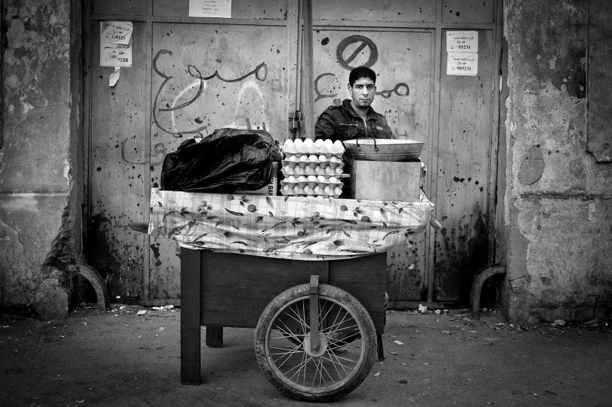 Lotfi, egg seller in Tunis