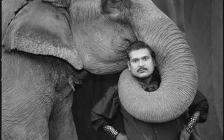 Mary Ellen Mark, Ram Prakash Singh with His Elephant Shyama, Great Golden Circus, Ahmedabad, India 1990