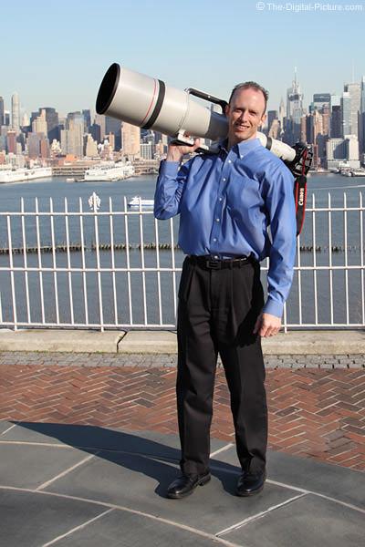 Llevando el Canon EF 1200mm