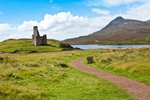 Path to Scottish castle