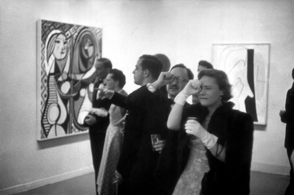 USA. NYC. 1957. MOMA. PICASSO retrospective.