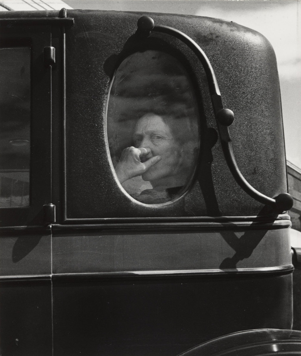 Dorothea Lange, Funeral Cortege, End of an Era in a Small Valley Town, California, 1938
