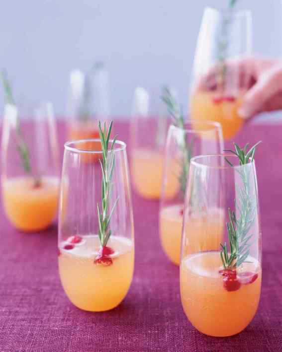 sparkling pear and cranberry