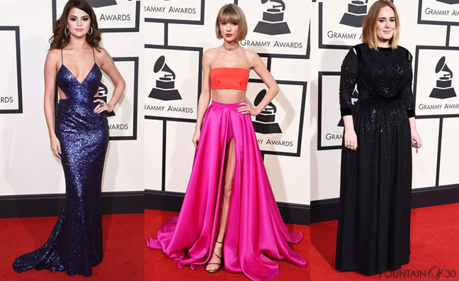Grammy Awards Red Carpet: Selena Gomez, Taylor Swift, Adele and More