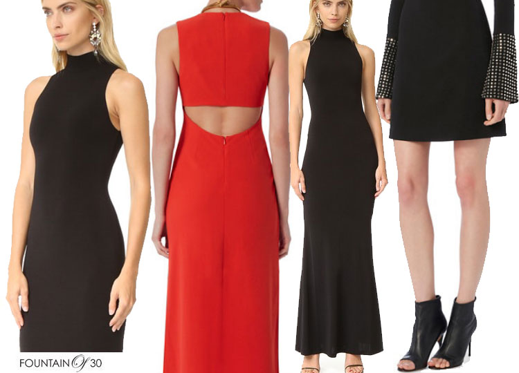cocktail-dresses-black-red-cut-outs-short
