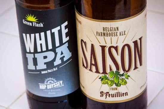 Going In Blind - Green Flash White IPA and St. Feuillien Saison
