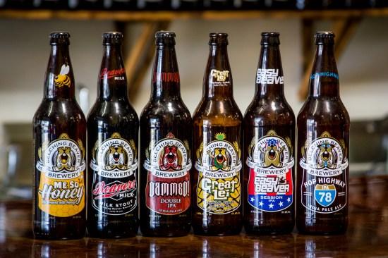 Belching Beaver Brewery Beers (Rabid Beaver Rye IPA not pictured)
