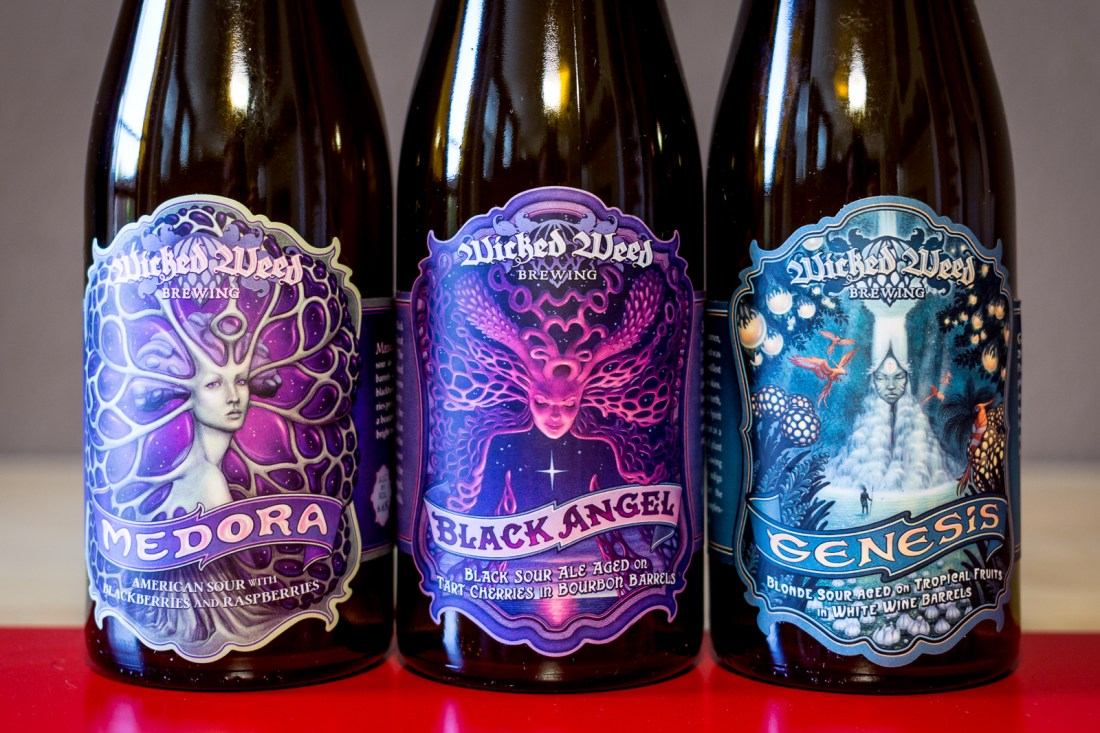 Wicked Weed Brewing - Medora, Black Angel, and Genesis
