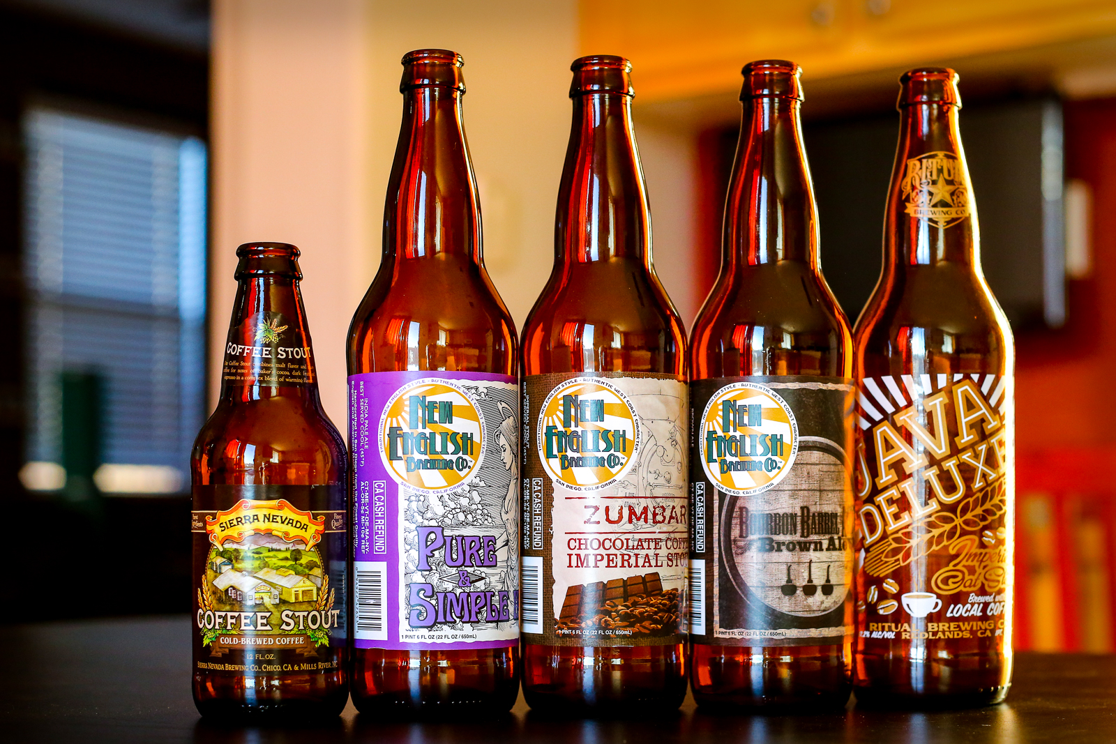 Beers from New English, Ritual Brewing, and Sierra Nevada