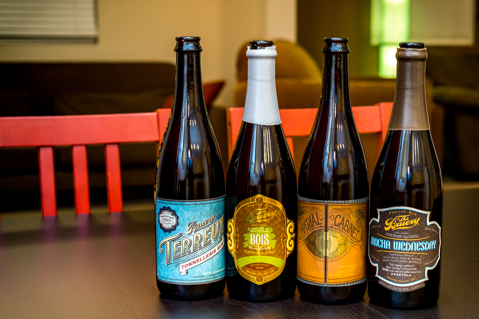 Beers from The Bruery and Bruery Terreux